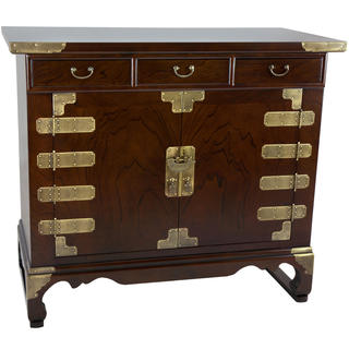 Small 3-drawer Korean Antique-style Credenza (China)