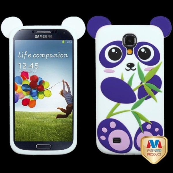 INSTEN Purple/ White Panda Pastel Skin Phone Case Cover for Samsung Galaxy S4 I337