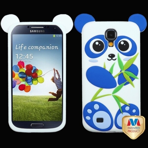 INSTEN Blue/ White Panda Pastel Skin Phone Case Cover for Samsung Galaxy S4 I337