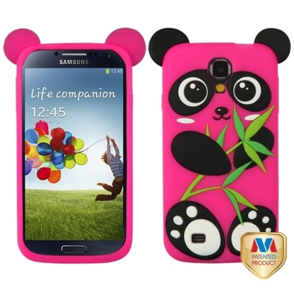 INSTEN Black/ Pink Panda Pastel Skin Phone Case Cover for Samsung Galaxy S4 I337