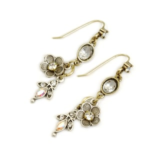 Sweet Romance Two-tone Posie Charm Earrings