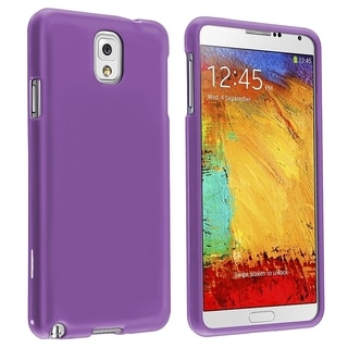 BasAcc Purple Rubber Coated Case for Samsung� Galaxy Note III N9000