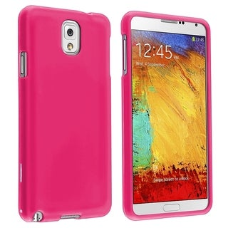 BasAcc Hot Pink Rubber Coated Case for Samsung� Galaxy Note III N9000
