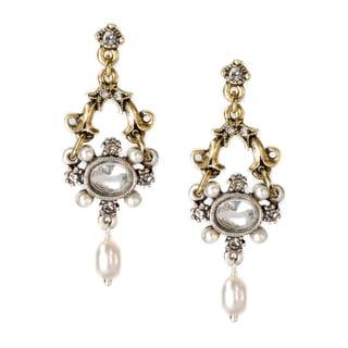 Sweet Romance Two-tone French Crystal Lorraine Earrings