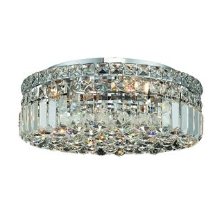 Christopher Knight Home Lausanne 5-light Royal Cut Crystal and Chrome Flush Mount
