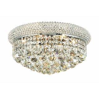 Christopher Knight Home Geneva 8-light Royal Cut Crystal and Chrome Flush Mount