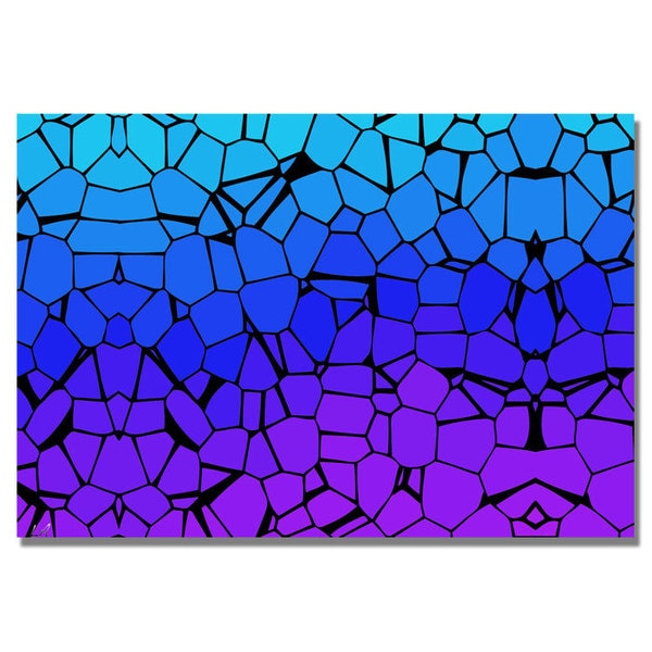Unknown 'Crystals of Blue and Purple' Canvas Art