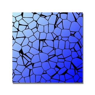 Unknown 'Crystals Blues' Canvas Art