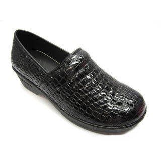 Blue Women's 'Clogger Croco' Black Croc-embossed Comfort Shoes