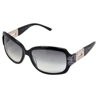 Jimmy Choo Women's 'Essie/S 0ZP3 ' Black/ Silver Snake Embossed Sunglasses