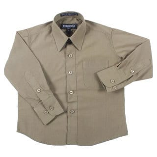 Ferrecci Boys Slim Fit Olive Collared Formal Shirt