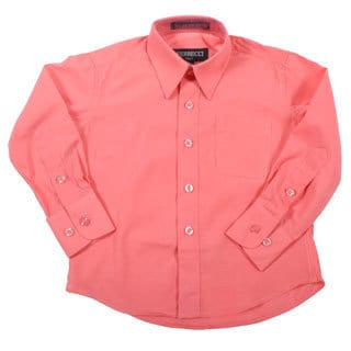 Ferrecci Boys Slim Fit Coral Collared Formal Shirt