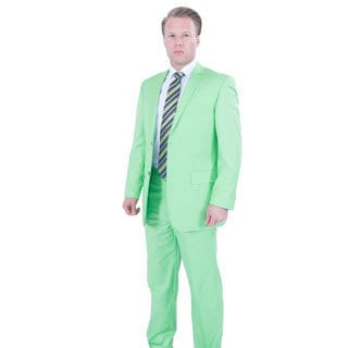 Ferrecci Men's Lime Green 2-button Suit