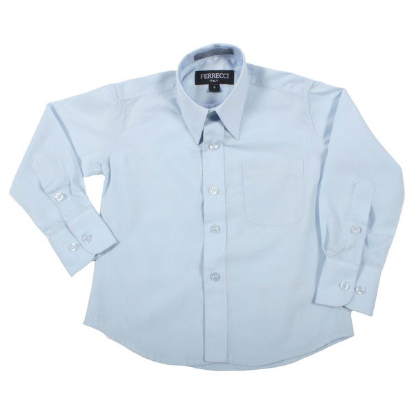 Ferrecci Boys Slim Fit Light Blue Collared Formal Shirt