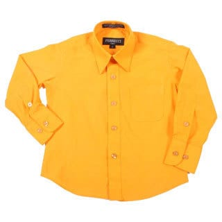 Ferrecci Boys Slim Fit Orange Collared Formal Shirt
