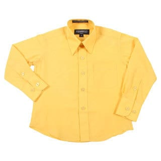 Ferrecci Boys Slim Fit Yellow Collared Formal Shirt
