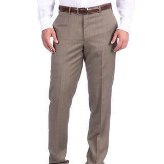 Ike Behar New York Italian Luxury Tan Wool Pant