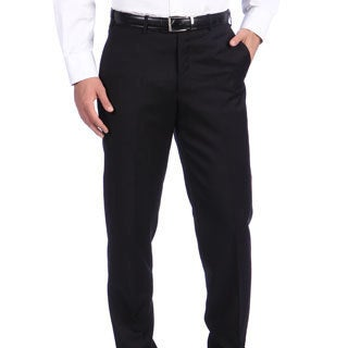 Ike Behar New York Italian Luxury Black Wool Pant