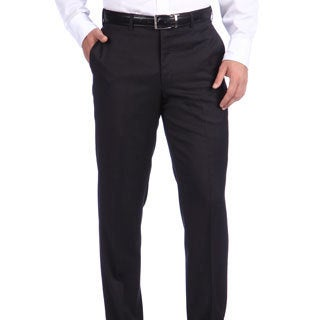 Ike Behar New York Italian Luxury Charcoal Wool Pant
