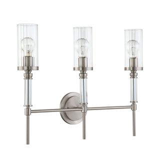 Cosmopolitan Vanity Satin Nickel Bath Light