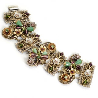 Sweet Romance Two-tone Dragonfly Garden Bracelet