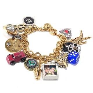 Sweet Romance Steampunk Americana Charm Bracelet