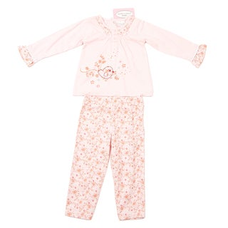 Kathy Ireland Newborn Girls Pink Floral Pant Set