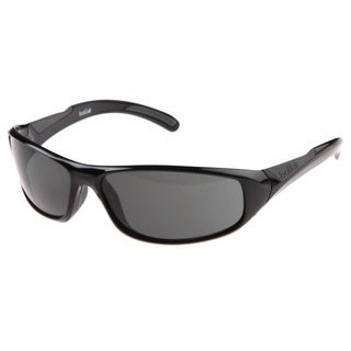 Bolle 'Swift' Shiny Black Wrap Sport Sunglasses