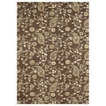 Alliyah Handmade Tobacco Brown Area Rug (9' x 12')