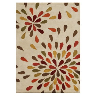 Alliyah Handmade Sand New Zealand Wool Rug (9' x 12')
