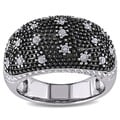 Miadora Black Rhodium-plated Silver 3/8ct TDW Diamond Cocktail Ring (H-I, I2-I3)