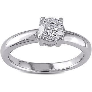 Miadora 14k White Gold 1ct TDW Certified Diamond Engagement Ring (G-H, I1-I2) (IGL)