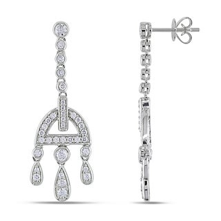 Miadora 14k White Gold 1ct TDW Diamond Dangle Earrings (G-H, SI1-SI2)