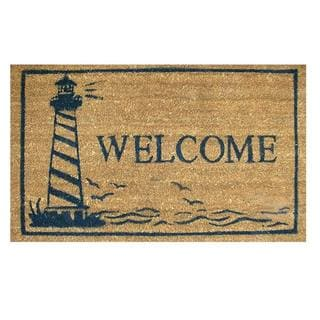 Lighthouse-Coir with Vinyl Backing Doormat (17-inches x 29-inches)