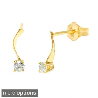 14k Gold 1/6ct TDW Diamond Earring (H-I, SI1-SI2)