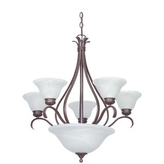 Oval Satin Nickel Iron Chandelier