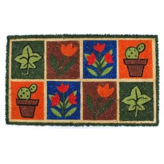 Springtime-Coir with Vinyl Backing Doormat (17-inches x 29-inches)
