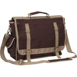 Goodhope P4684 Expresso Canvas Messenger Brown