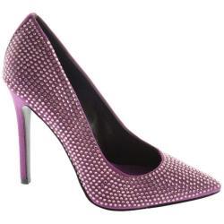 Women's Nine West Glitterbig Purple Satin