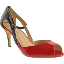 Women's Samanta Judy Red/Black Patent Leather