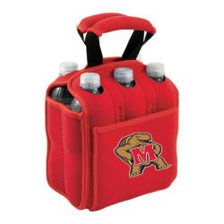 Picnic Time Six Pack Maryland Terrapins Red