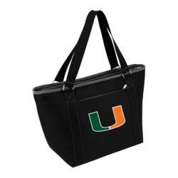 Picnic Time Topanga Miami Hurricanes Embroidered Black