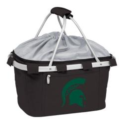 Picnic Time Metro Basket Michigan State Spartans Print Black