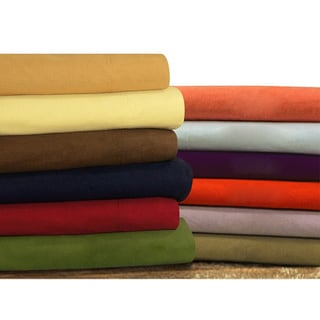 Tribeca Living Solid Flannel Deep Pocket Sheet Set