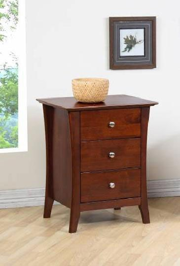 Vermont Chestnut Three-drawer Nightstand