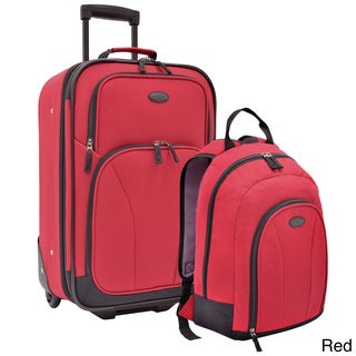 U.S. Traveler 2-piece Upright and Backpack Carry-on Luggage Set