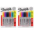 Assorted Colors Fine Point Sharpie Permanent Markers (Set of 16)