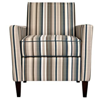 Portfolio Gia Deep Blue Stripe Chair