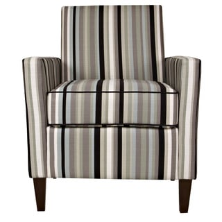 angelo:HOME Sutton Mid Century Black Stripe Chair