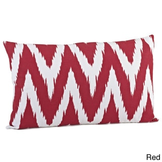 Chevron Print Feather Filled Throw Pillow